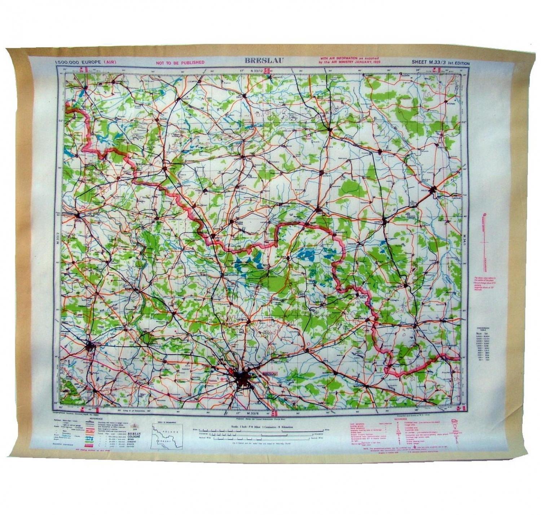RAF Escape & Evasion Map - Germany