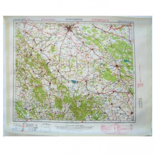 RAF Escape & Evasion Map - Schweidnitz