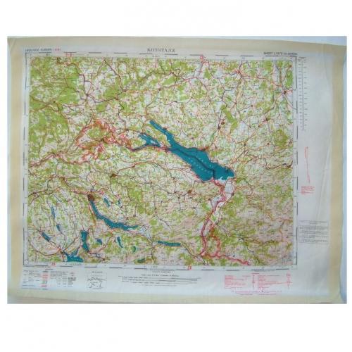 RAF Escape & Evasion Map - Konstanz