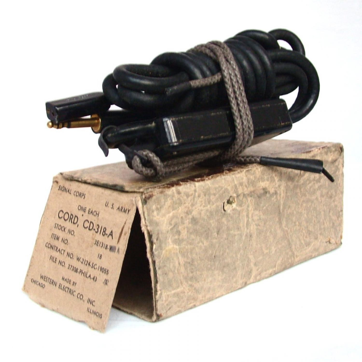 USAAF Throatmicrophone Extension Cord