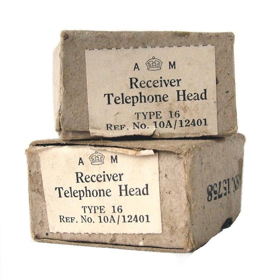 RAF Flying Helmet Receiver Boxes