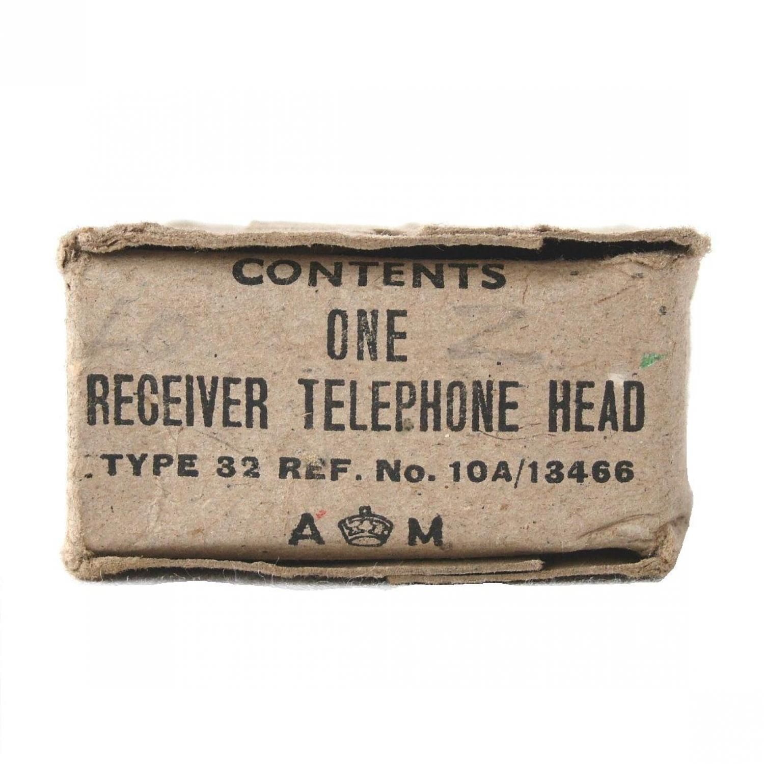 RAF Flying Helmet Receiver Box