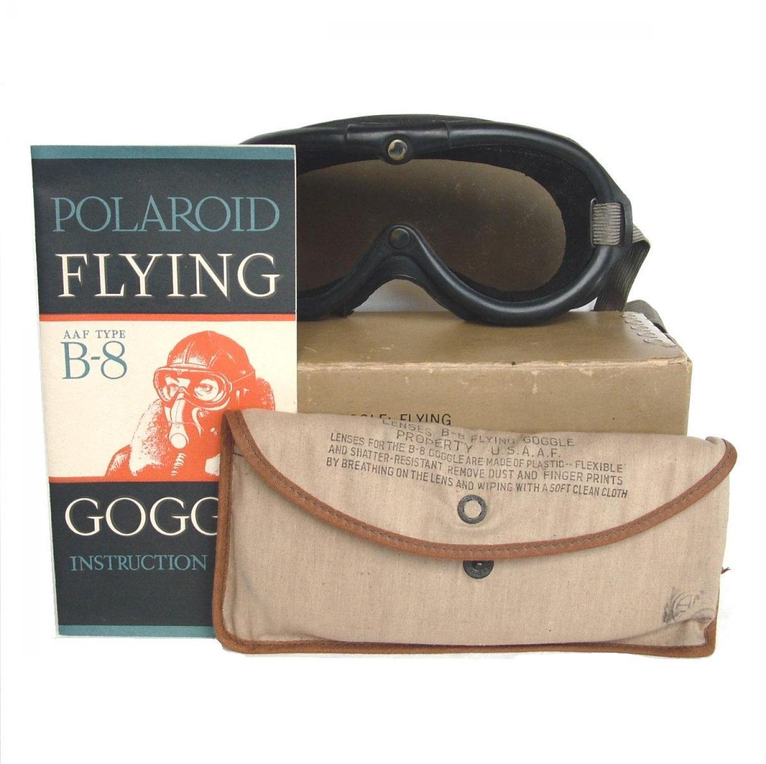 USAAF B-8 Flying Goggles, Boxed