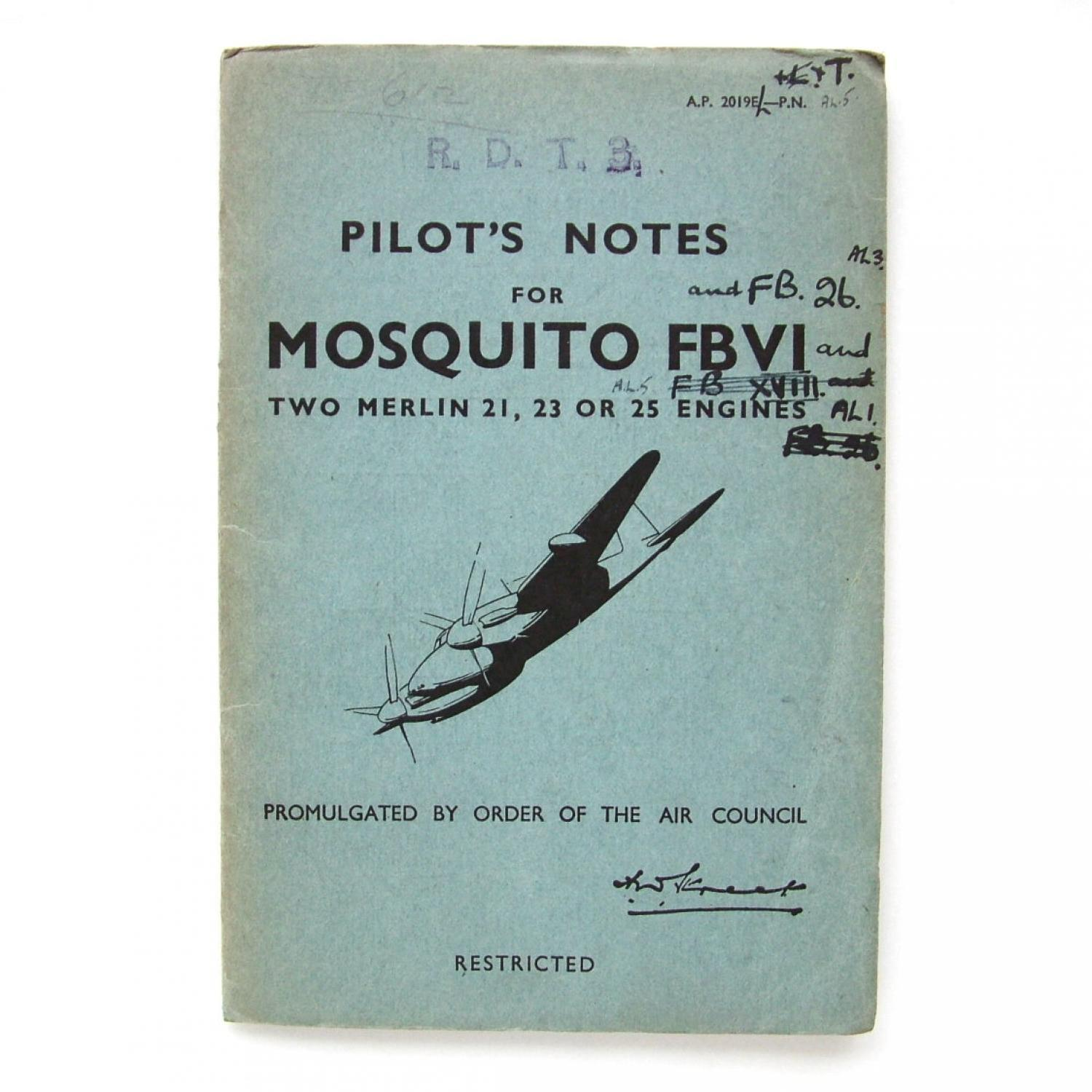 RAF Pilot's Notes : Mosquito FBVI - FB.26