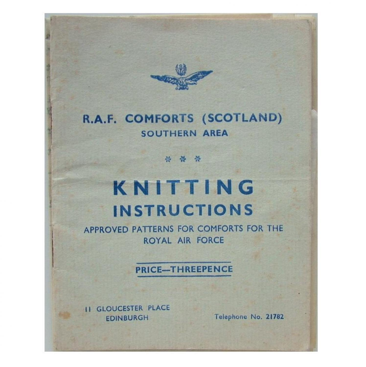 RAF Comforts Committee Knitting Pattern
