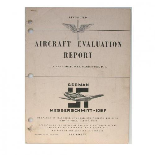 USAAF Me109F Evaluation Report