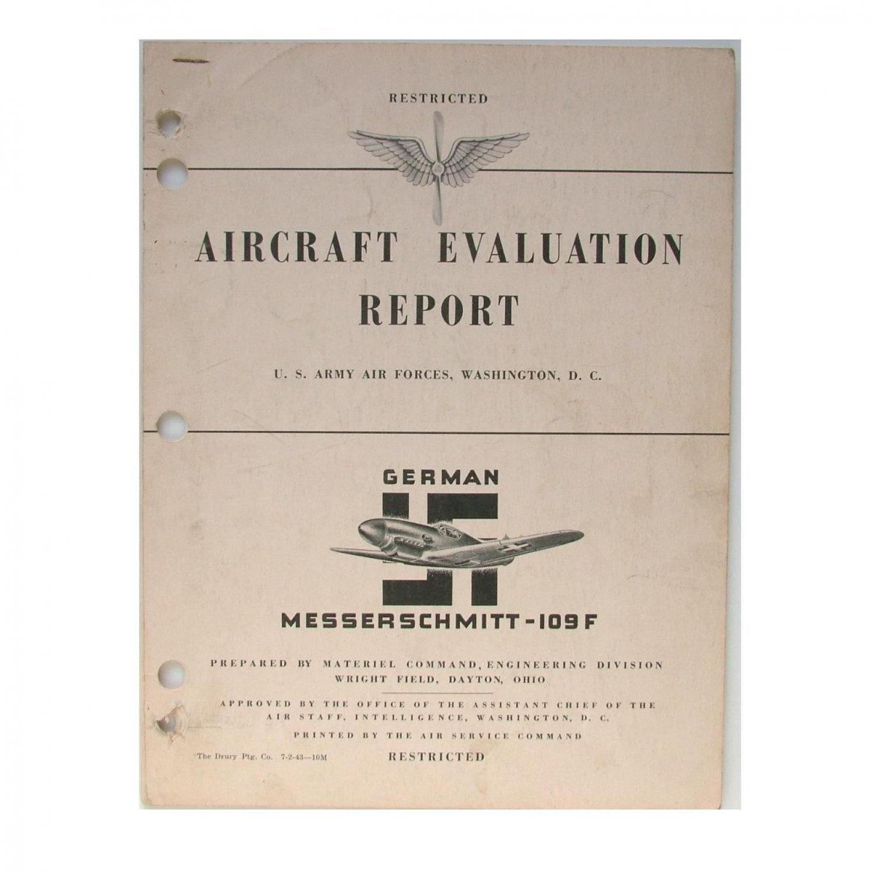USAAF Me109F Evaluation Report