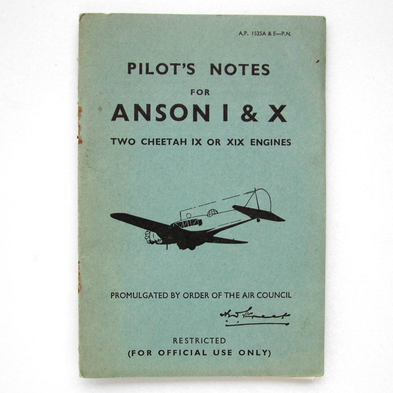 RAF Pilot's Notes : Anson I & X