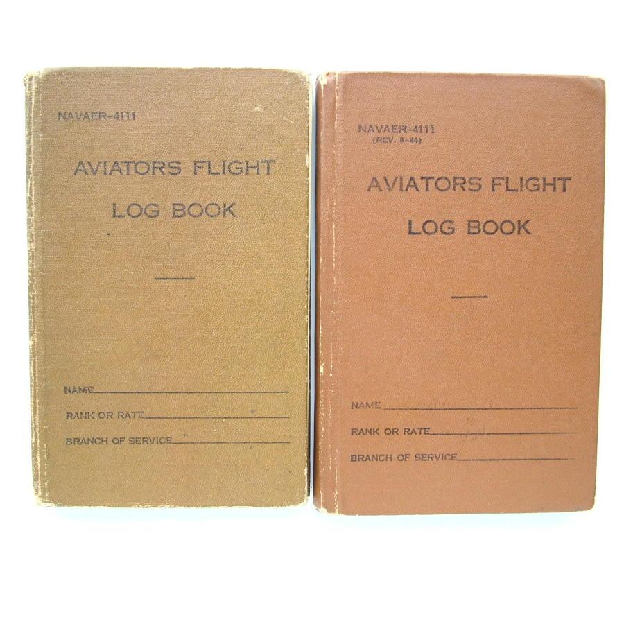USN Aviators Flight Log Books