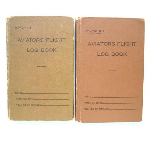 USN Aviators Flight Log Books