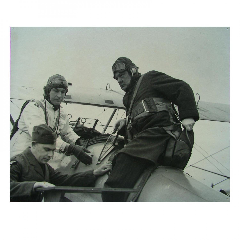 Press Photo - Churchill At RAF Kenley
