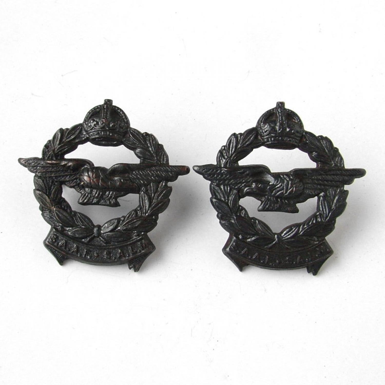 SAAF collar badges