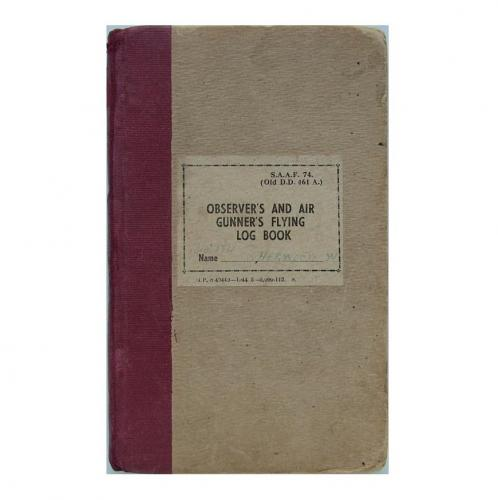 SAAF Navigator's flying log book