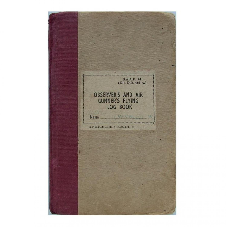 SAAF Navigator's flying log book