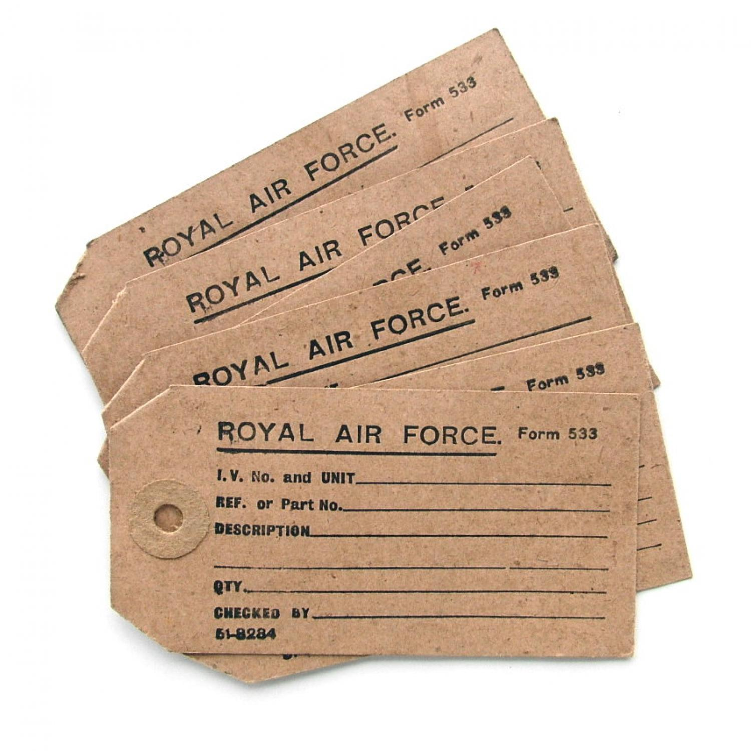 RAF equipment tags