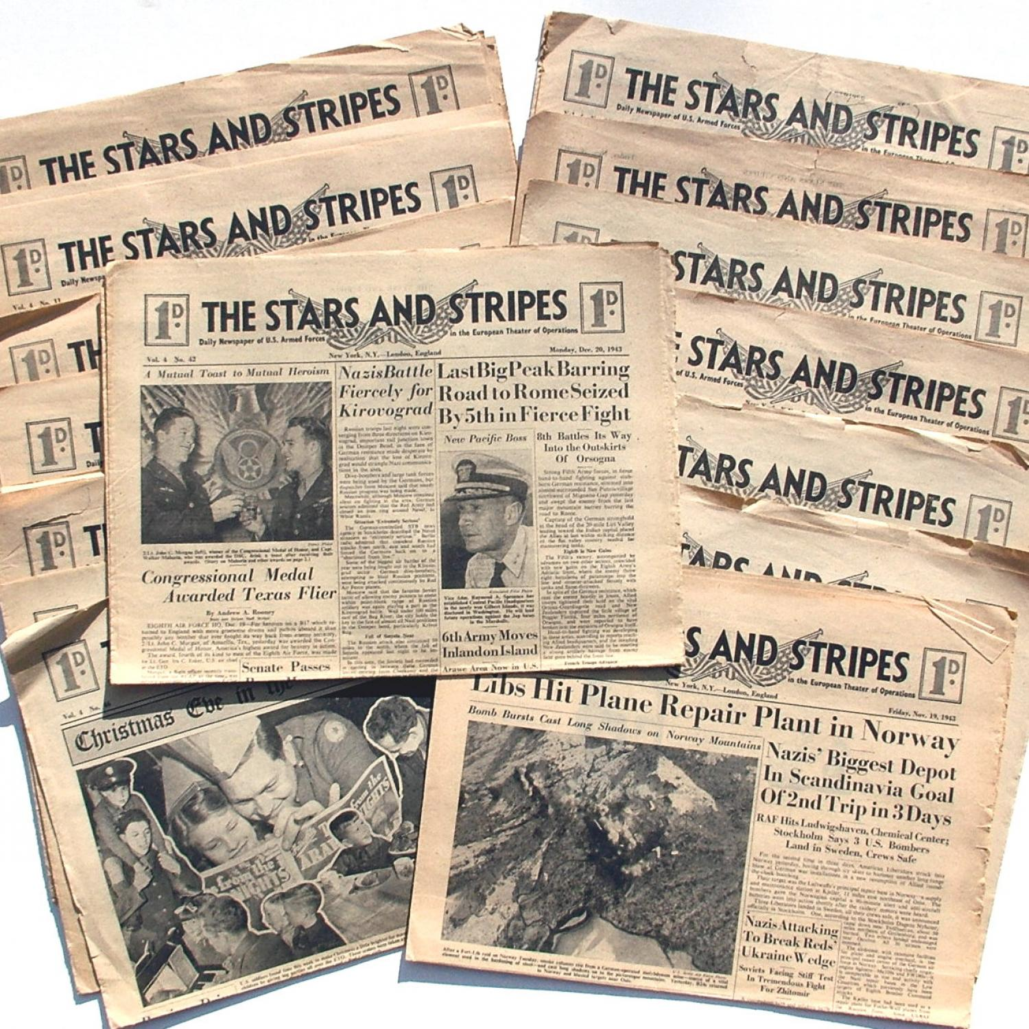 Newspapers for US forces in ETO, c.1943