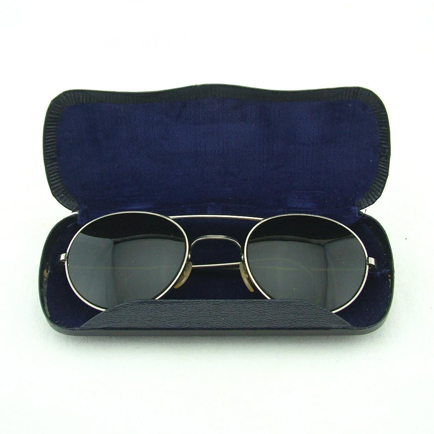 RAF sunglasses, type G, cased