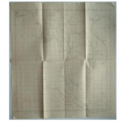 RAF plotting map, Burma - Far East