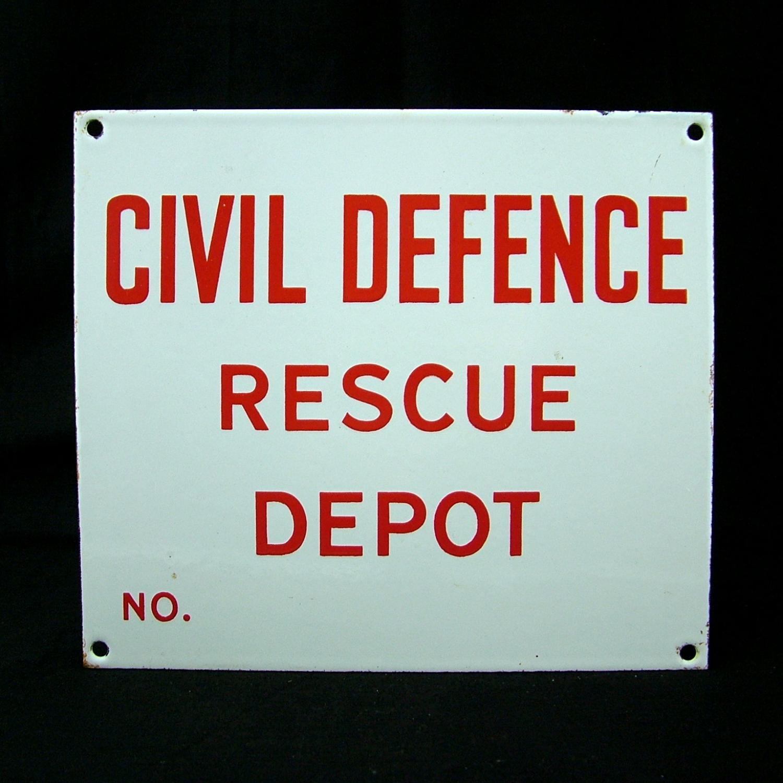 WW2 Civil Defence sign