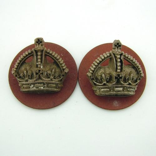 RAF flight sergeant crowns - pair