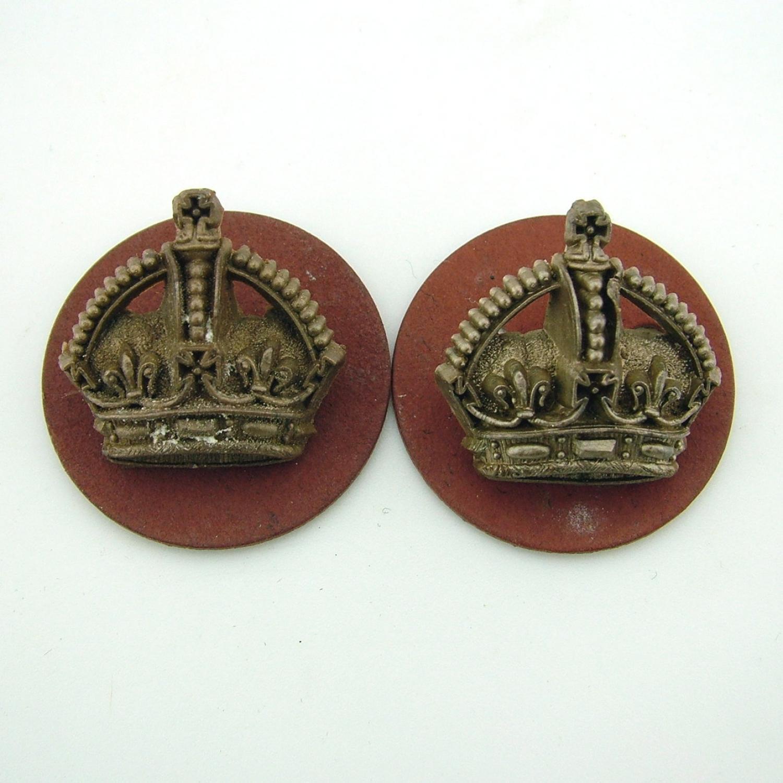 RAF flight sergeant crowns - pair