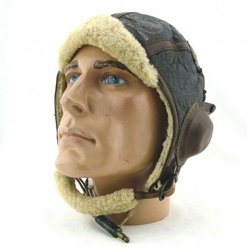 USAAF B-6 winter flying helmet, wired