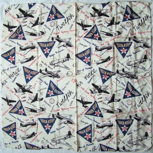 USAAF 12th AF scarf