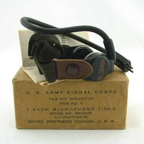 USAAF T-30-V throatmicrophone, boxed
