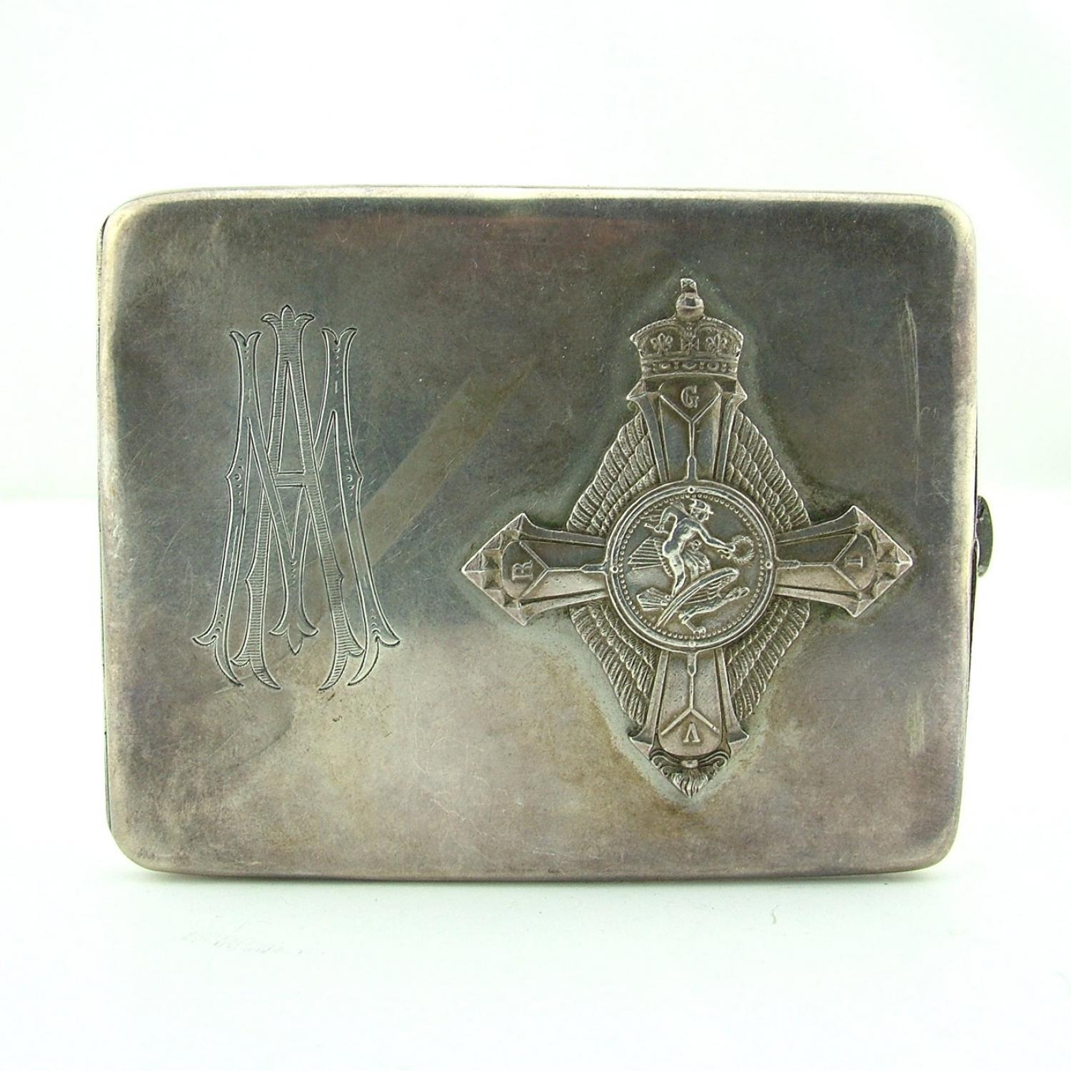 RAF cigarette case with AFC