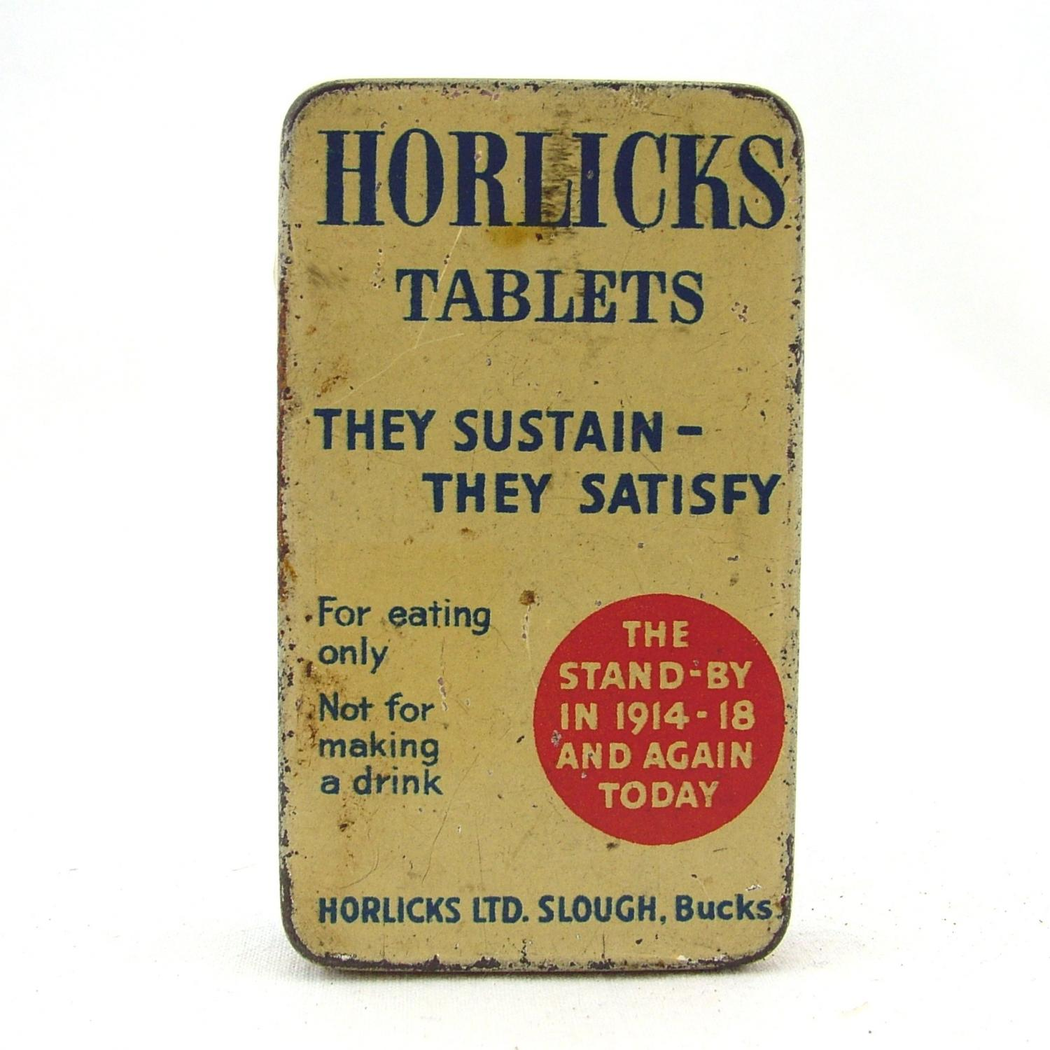 Horlicks ration tin
