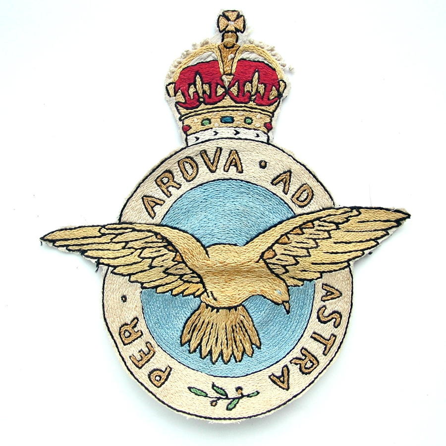 Embroidered RAF badge