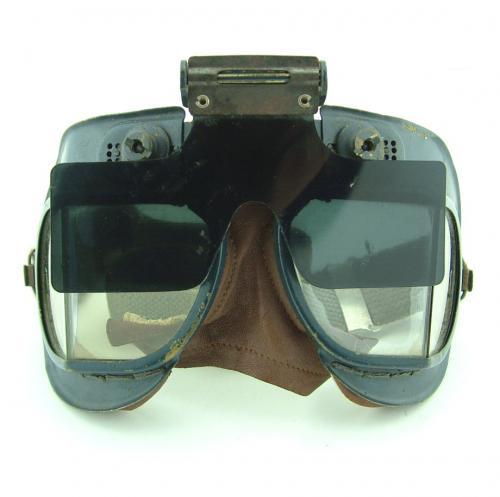 RAF MKVII flying goggles & anti-glare shield