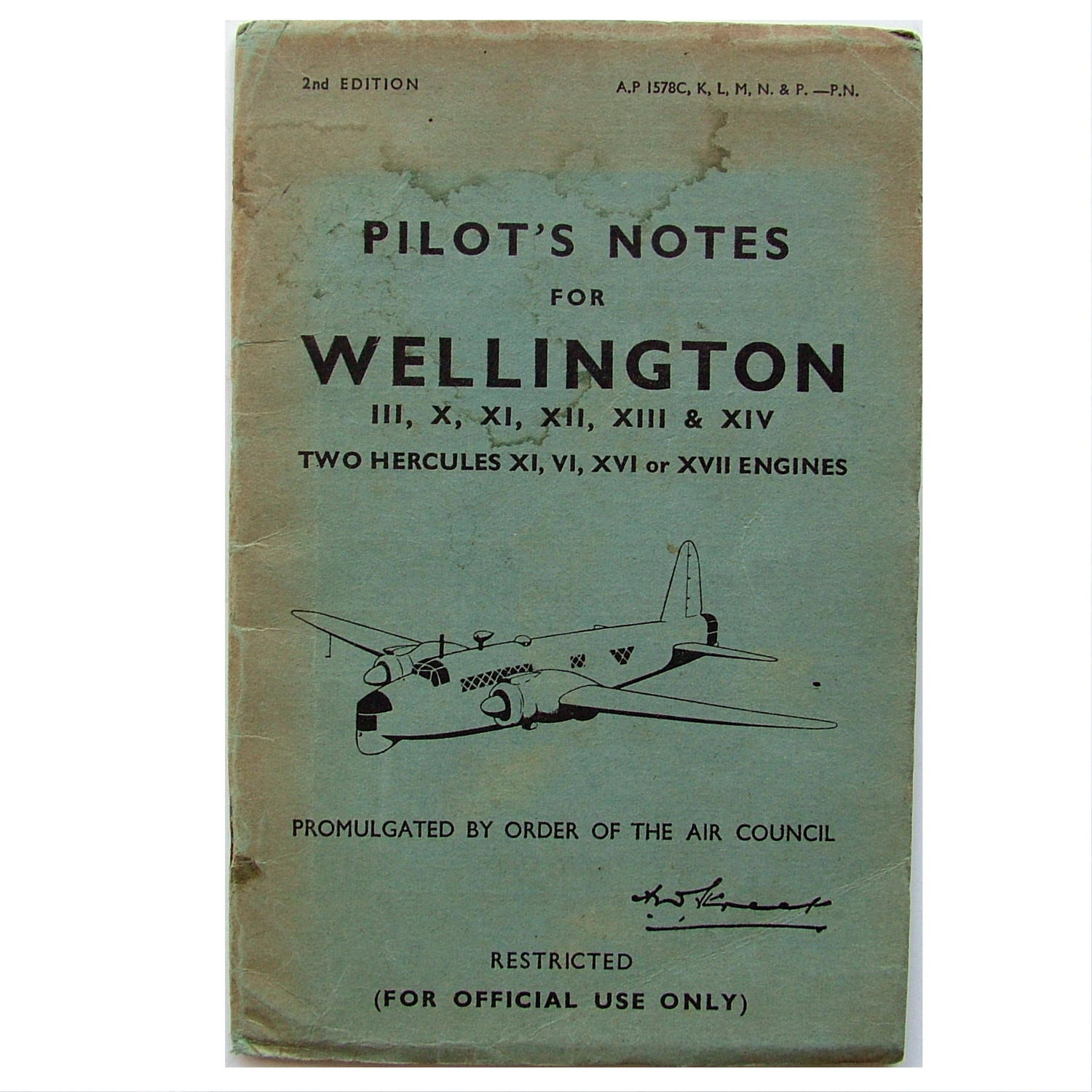 RAF Pilot's Notes - Wellington III - XIV