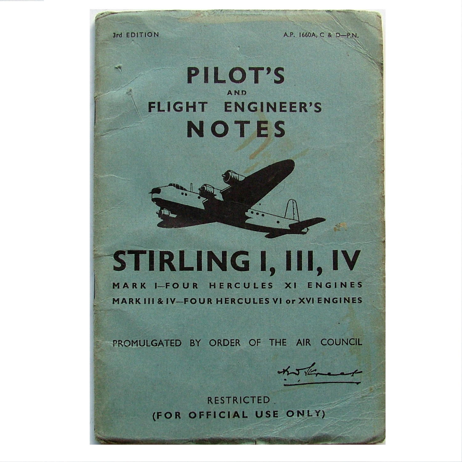 RAF Pilot's notes - Stirling I, III & IV