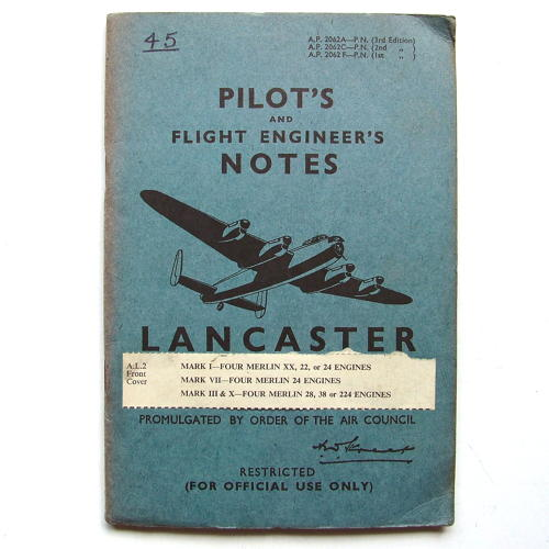 RAF Pilot's notes - Lancaster I, III, VII, X