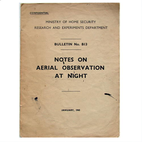 Notes on aerial observation at night