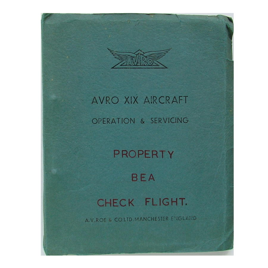 AVRO XIX operation & servicing manual