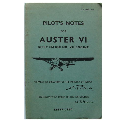 RAF Pilot's notes - Auster VI