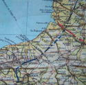 RAF escape & evasion map, Zones of France - picture 4