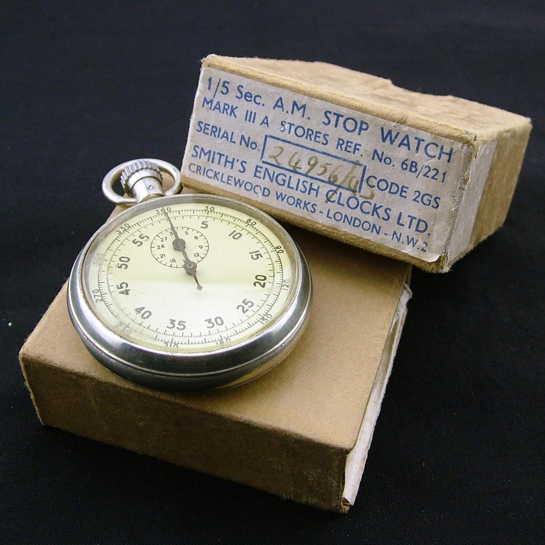 RAF stopwatch, Mk.IIIA, boxed