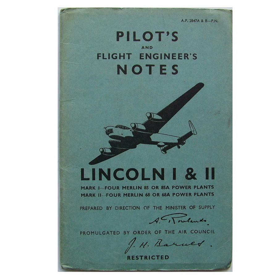 RAF Pilot's notes - Lincoln I & II