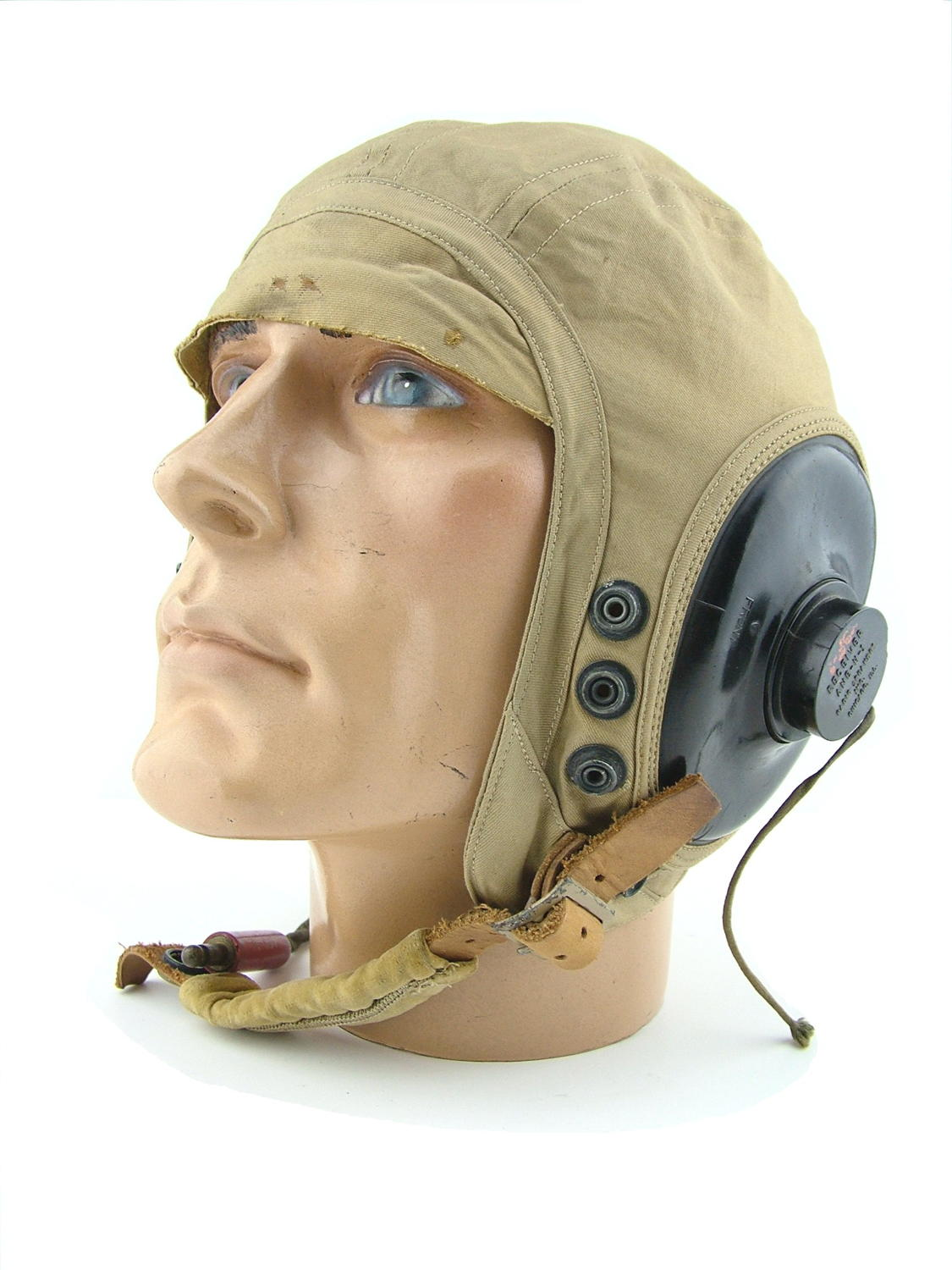 USAAF AN-H-15 flying helmet, wired