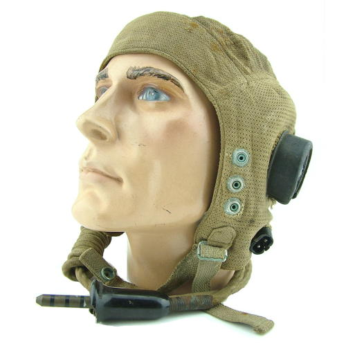 RAF E-type flying helmet, wired