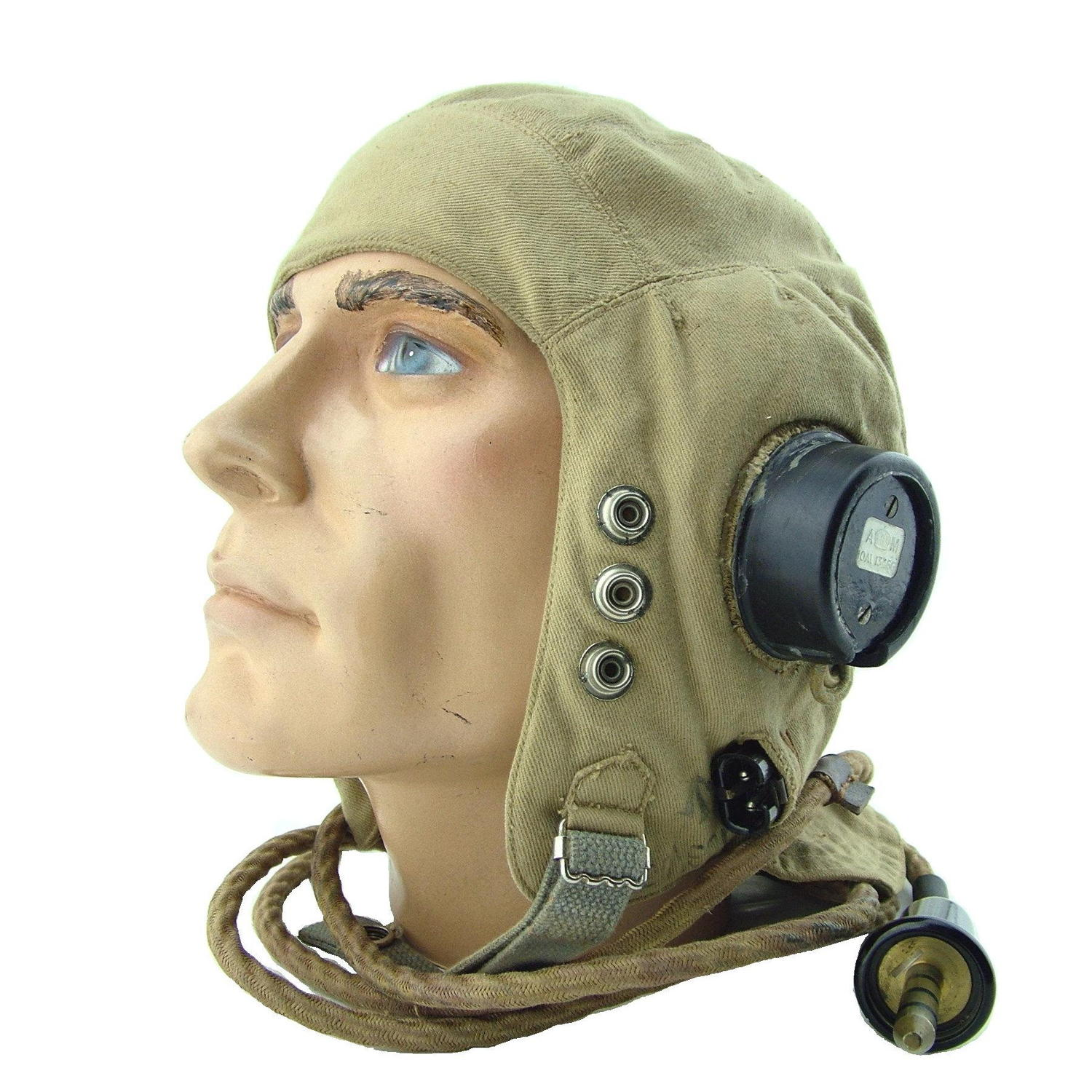 RAF D-type flying helmet, late patt.