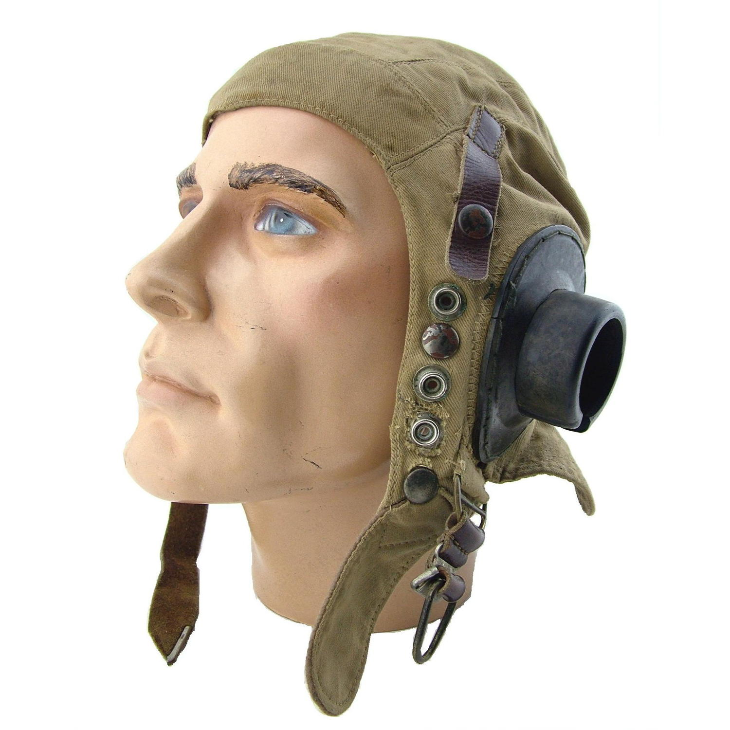 RAF D-type flying helmet, early patt.
