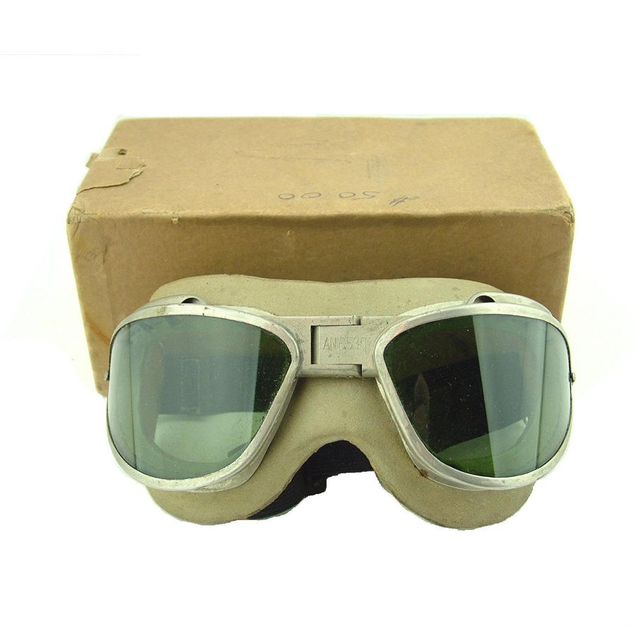 USAAF AN6530 flying goggles, boxed