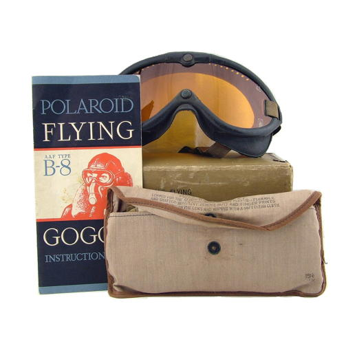 USAAF Type B-8 flying goggles, boxed
