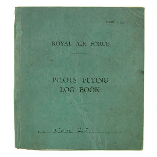 RAF pilot's conspicuous gallantry log book