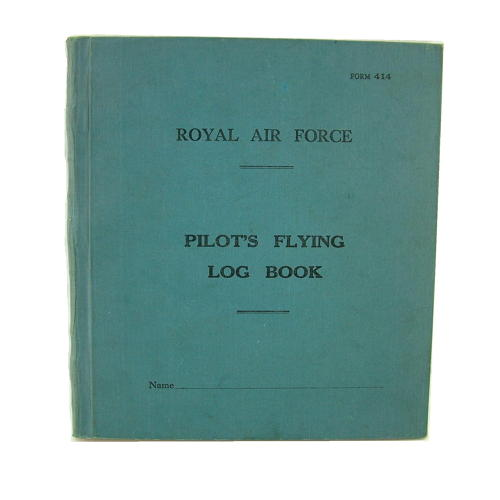 RAF pilot's flying log book