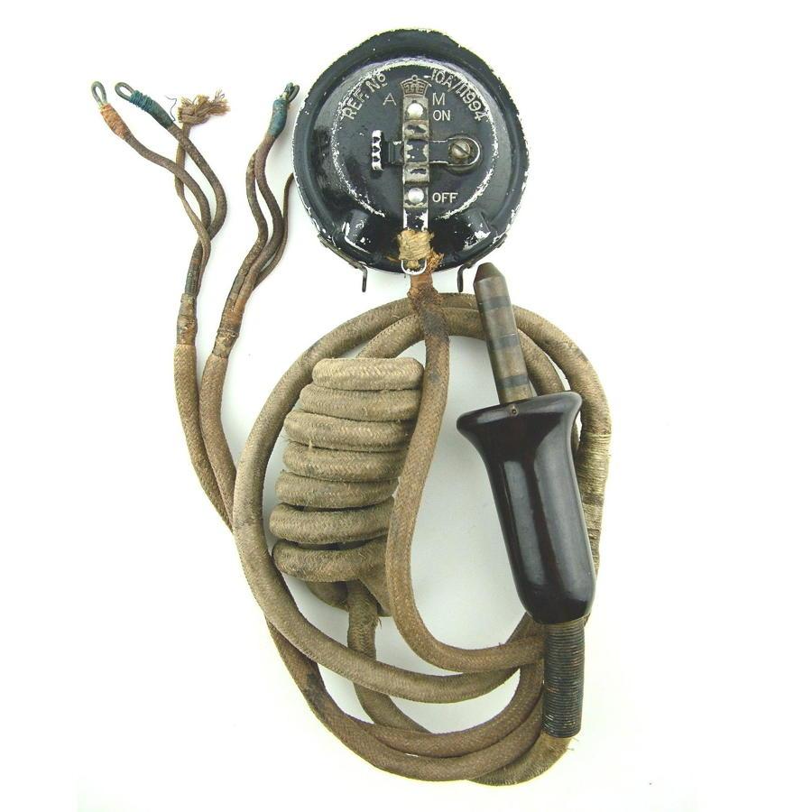 RAF wiring loom c/w type 20 microphone